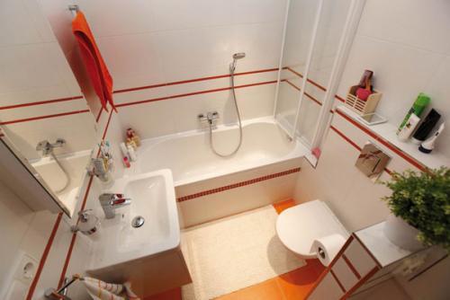 بالصور ديكورات حمامات صغيرة جدا وبسيطة , شاهد تصميمات تتميز بالبساطة للحمامات الضيقة 2467 13