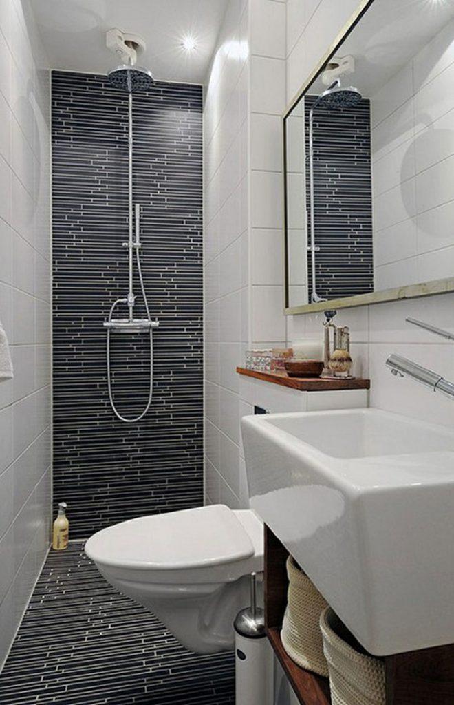 بالصور ديكورات حمامات صغيرة جدا وبسيطة , شاهد تصميمات تتميز بالبساطة للحمامات الضيقة 2467 18