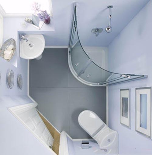 بالصور ديكورات حمامات صغيرة جدا وبسيطة , شاهد تصميمات تتميز بالبساطة للحمامات الضيقة 2467 2