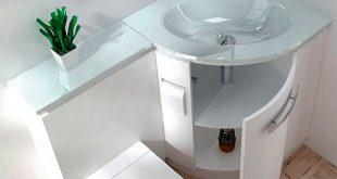 صور ديكورات حمامات صغيرة جدا وبسيطة , شاهد تصميمات تتميز بالبساطة للحمامات الضيقة