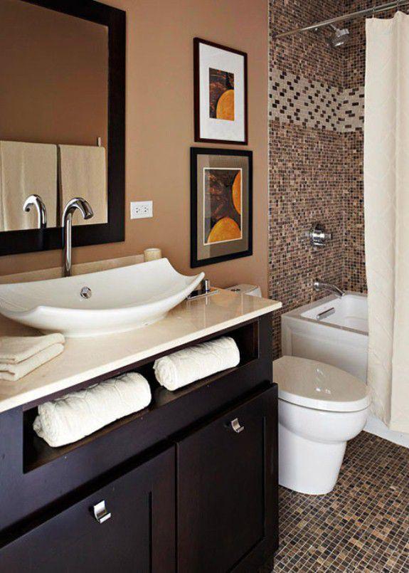 بالصور ديكورات حمامات صغيرة جدا وبسيطة , شاهد تصميمات تتميز بالبساطة للحمامات الضيقة 2467 4
