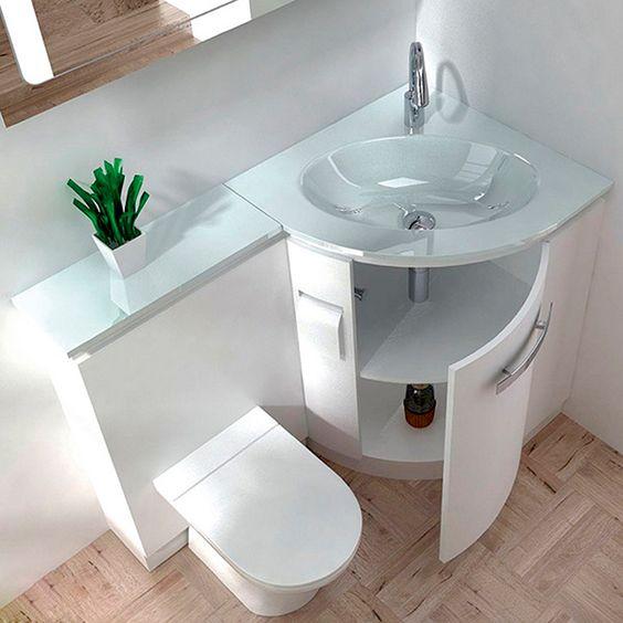 بالصور ديكورات حمامات صغيرة جدا وبسيطة , شاهد تصميمات تتميز بالبساطة للحمامات الضيقة 2467