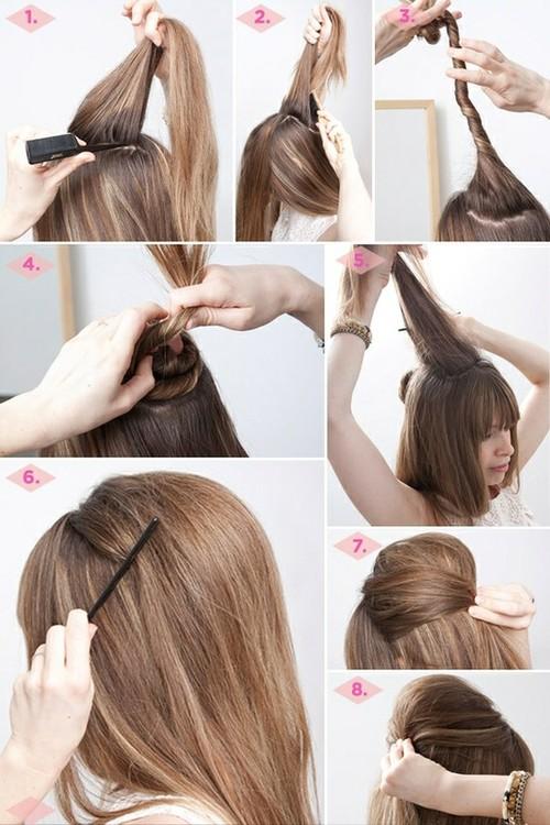 صورة طرق تصفيف الشعر , تسريحات جميلة للشعر للبنات