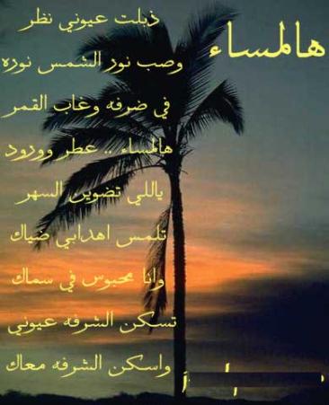 بالصور مساء الخير شعر قصير , اشعار جميلة وقصيرة للمساء 1971