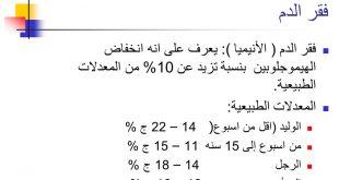 صورة نسبة الانيميا الطبيعية , ما هي النسبة الطبيعيه للانيميا في الجسم