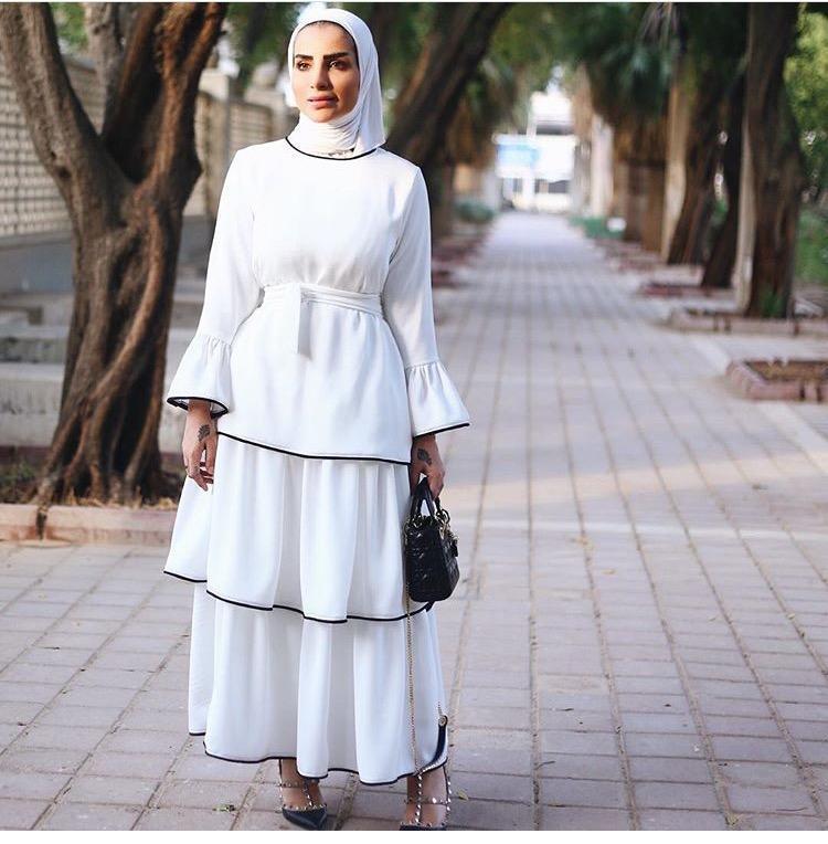 صورة ازياء فساتين محجبات , احدث المودلات لفساتين المحجبات