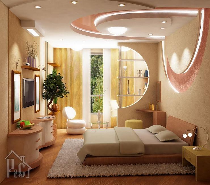 ديكور جبس غرفة النوم موضة جديدة لديكور غرف النوم عيون الرومانسية