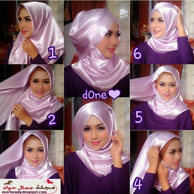 صور لفات حجاب للحفلات بالصور , احدث التصميمات للف الحجاب للمناسبات