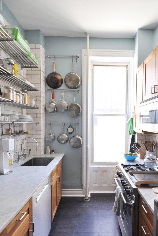 صورة افكار للمطابخ الضيقة , فكرة مميز جدا للمطبخ الصغير بالصور