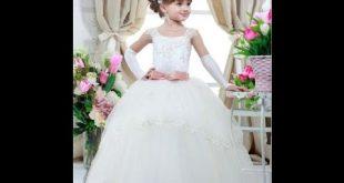 صور احدث موديلات فساتين الزفاف للاطفال , اختلاف اذواق الامهات