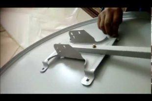 صورة طريقة تركيب طبق الدش بالصور نايل سات , تركيب طبق القمر الصناعي