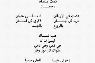 صورة كلمات النشيد الوطني الجزائري , الثورة الجزائرية ونشيدها