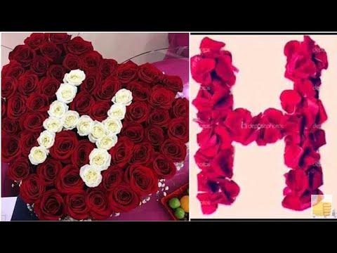 حرف H على شكل قلب صور حروف باشكال جميله عيون الرومانسية