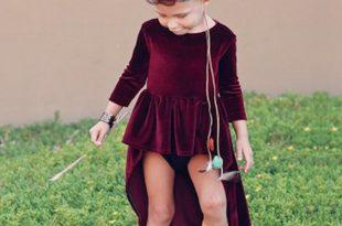صور فساتين قطيفة للاطفال , الفساتين موضة 2019