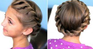 صور تسريحات للشعر الطويل للاطفال بالخطوات , الشعر هو تاج المراة