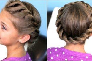 صورة تسريحات للشعر الطويل للاطفال بالخطوات , الشعر هو تاج المراة