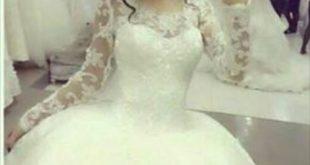 صورة صور بنات بفستان الفرح , اشكال فستان الفرح