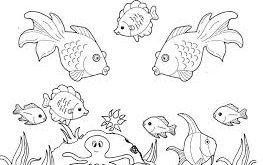 صور رسومات قاع البحر للتلوين , صور تلوين للاطفال