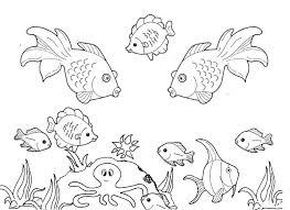 صورة رسومات قاع البحر للتلوين , صور تلوين للاطفال