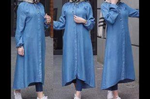 صورة اخر صيحات الموضة للمحجبات 2019 , اجمل ملابس المحجبات العصرية