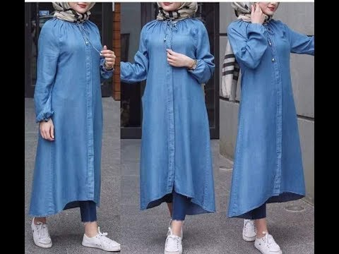 صور اخر صيحات الموضة للمحجبات 2019 , اجمل ملابس المحجبات العصرية
