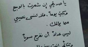 صورة صديقى الوفى اللى مفيش منه , قصائد شعر عن الصديق
