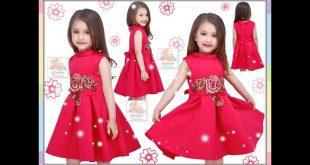صورة بنوتات عسلات متشيكين , ملابس بنات صغار للعيد 2019