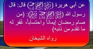 سيغفر الله لك , فضل شهر رمضان